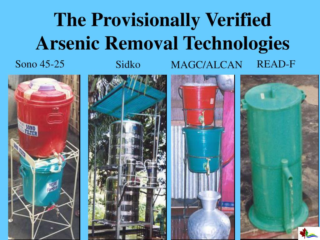 The Provisionally Verified Arsenic Removal Technologies