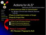 actions for als