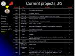 current projects 3 3