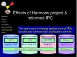 effects of h armony project reformed ipc18