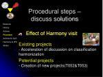 procedural steps discuss solutions10