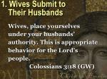 1 wives submit to their husbands