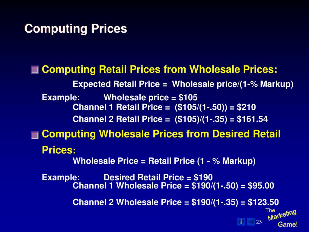 Computing Prices