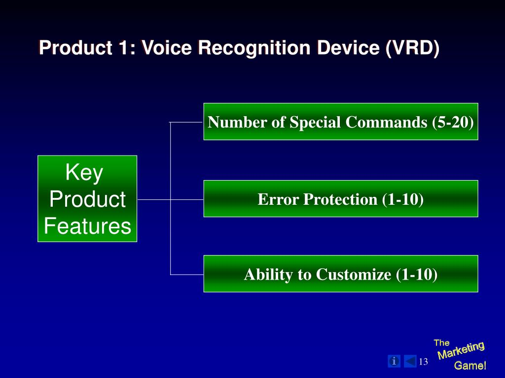 Product 1: Voice Recognition Device (VRD)