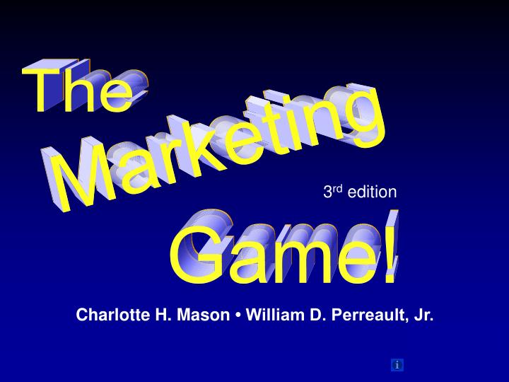 The marketing game what is it