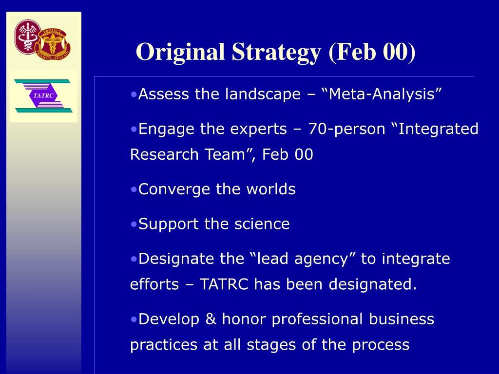 Original Strategy (Feb 00)
