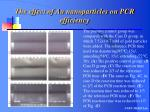 the effect of au nanoparticles on pcr efficiency