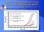 the effect of au nanoparticles on the efficiency of pcr reaction of bnip3 cdna