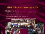 aids advocacy network aan