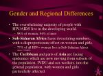 gender and regional differences