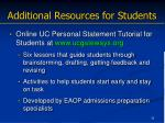 additional resources for students