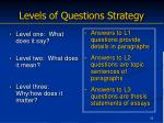 levels of questions strategy
