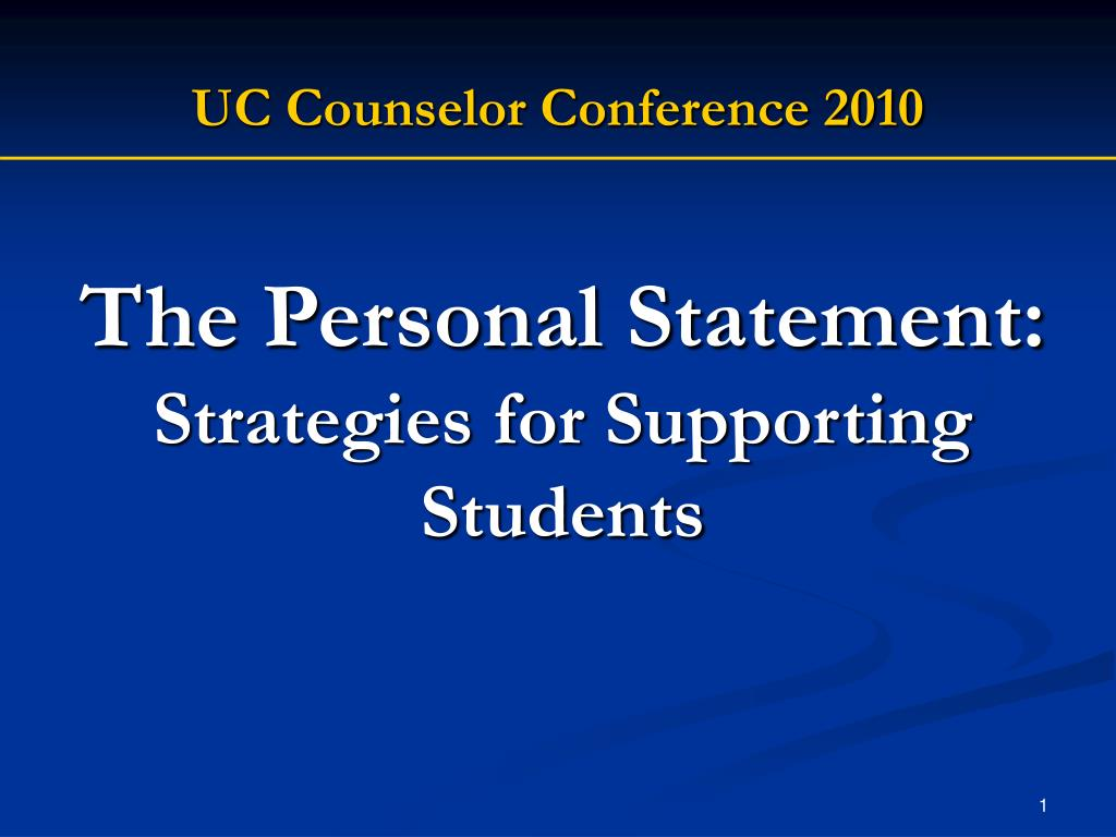the personal statement strategies for supporting students