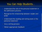 you can help students