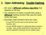 3 open addressing double hashing