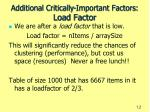 additional critically important factors load factor