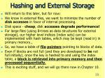 hashing and external storage