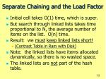 separate chaining and the load factor15