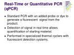 real time or quantitative pcr qpcr