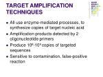 target amplification techniques