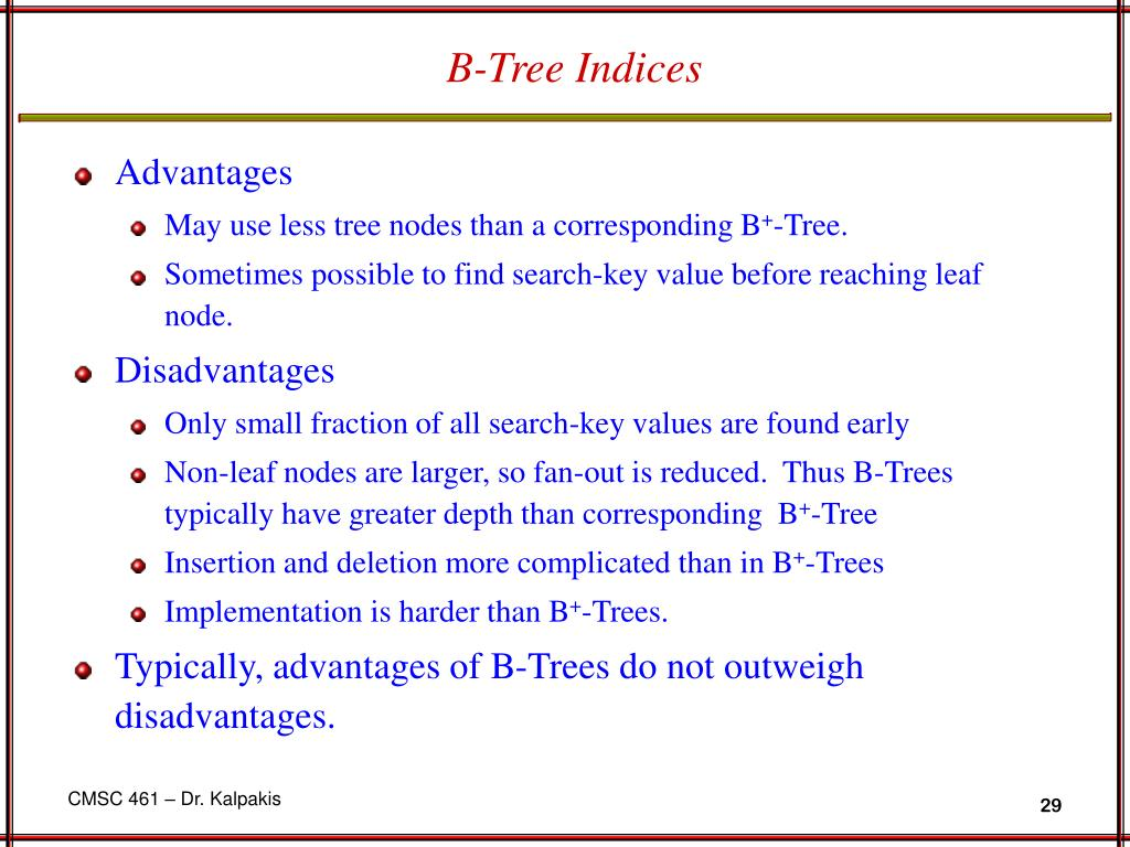 B-Tree Indices