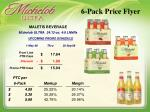 6 pack price flyer