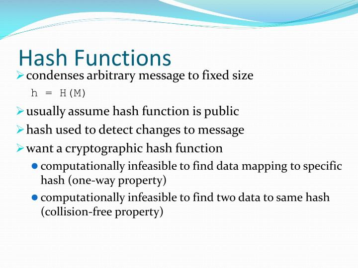 Hash functions2
