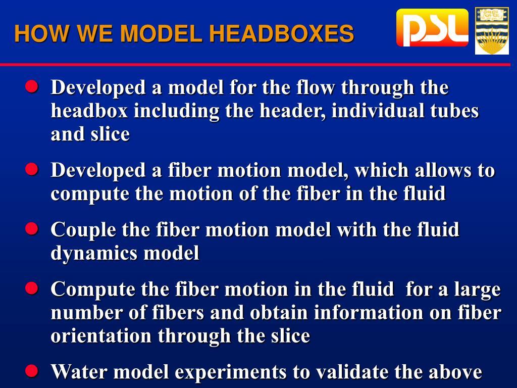 HOW WE MODEL HEADBOXES