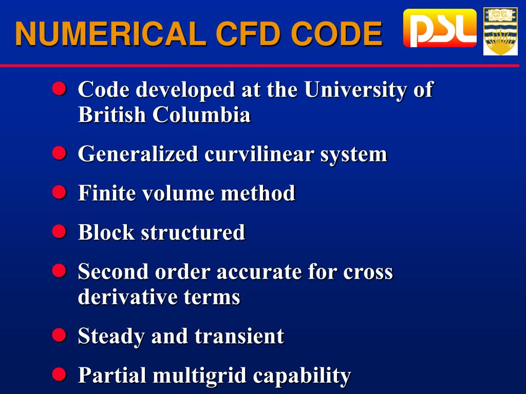 NUMERICAL CFD CODE