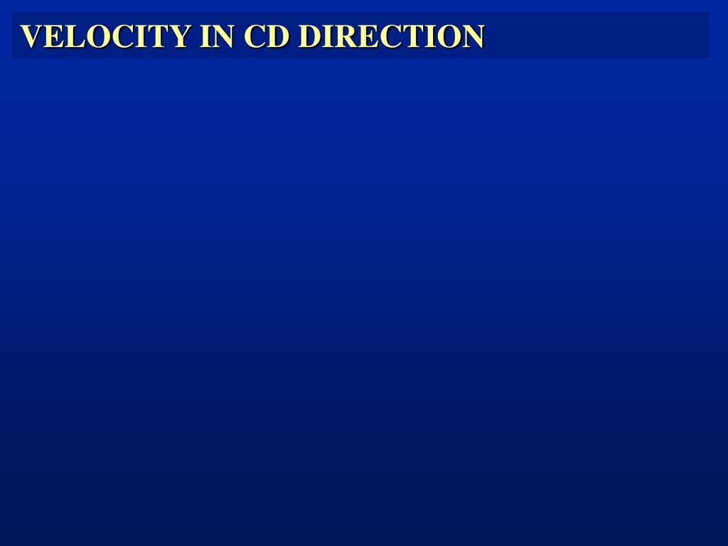 VELOCITY IN CD DIRECTION