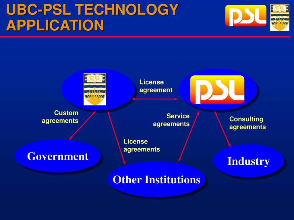 UBC-PSL TECHNOLOGY APPLICATION