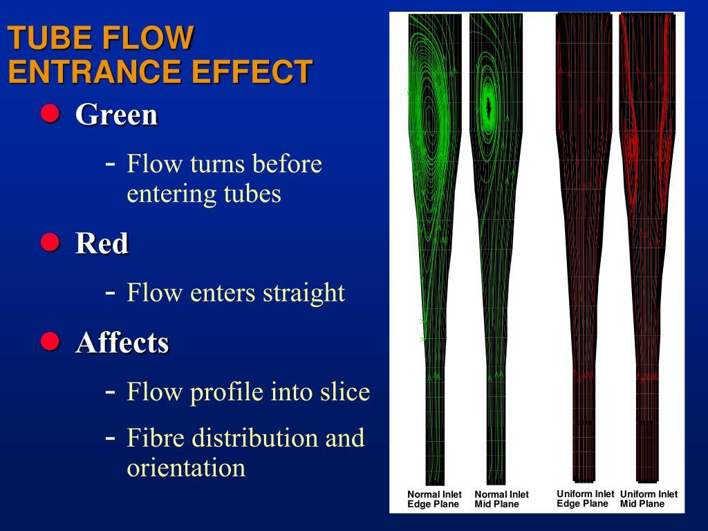 TUBE FLOW ENTRANCE EFFECT