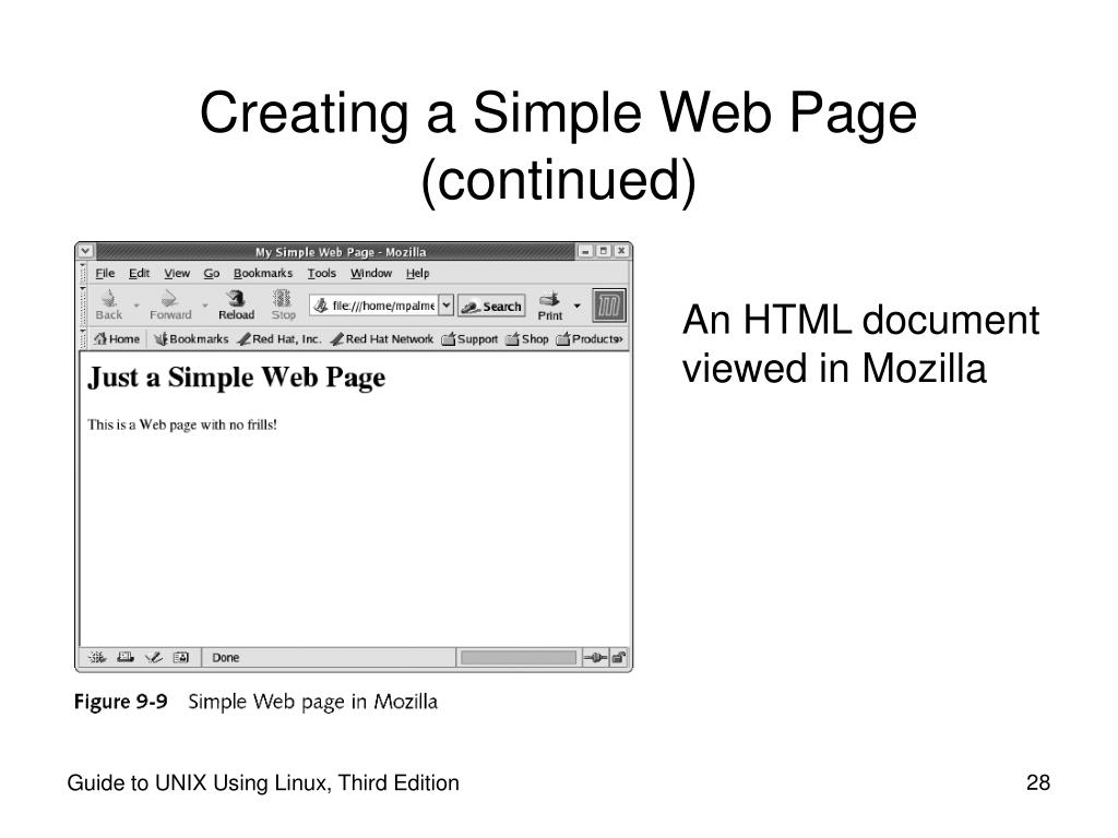 Creating a Simple Web Page (continued)