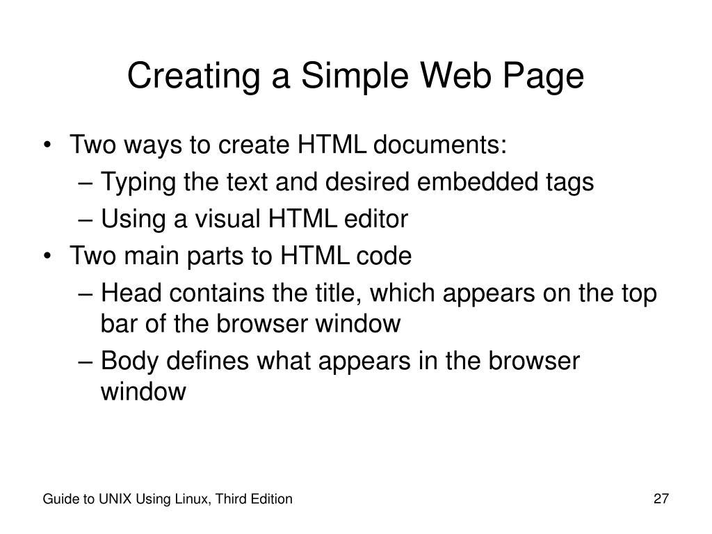 Creating a Simple Web Page