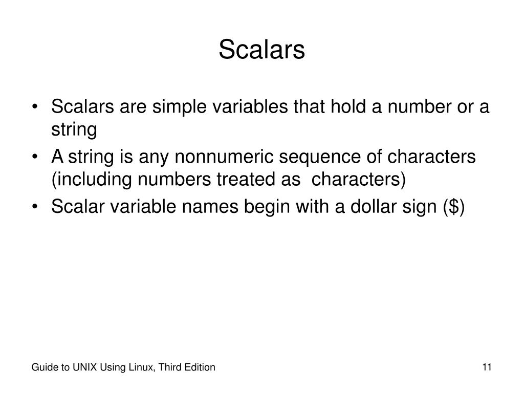 Scalars