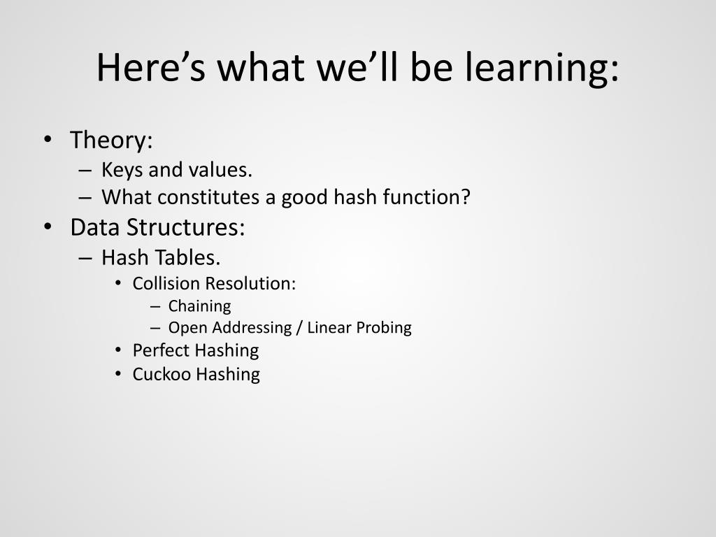 Here's what we'll be learning: