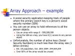 array approach example
