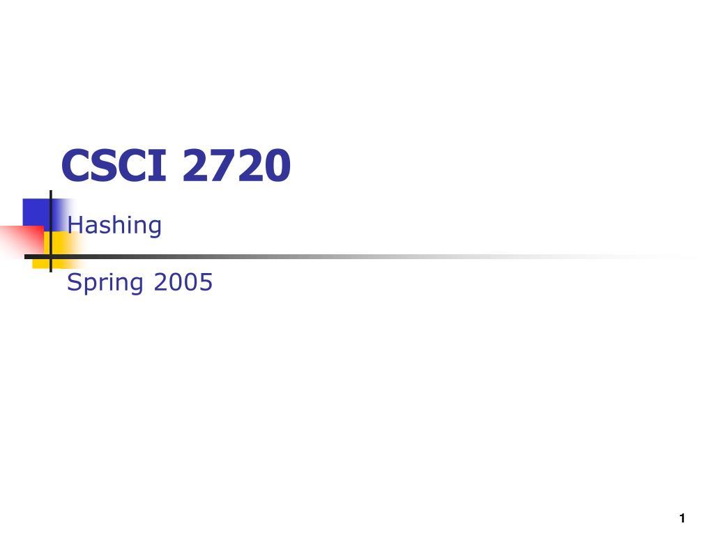 csci 2720