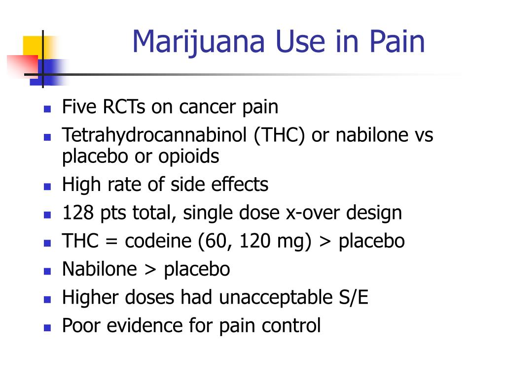 Marijuana Use in Pain