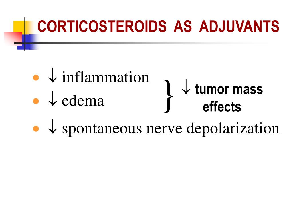 CORTICOSTEROIDS  AS  ADJUVANTS