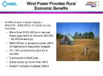 wind power provides rural economic benefits17