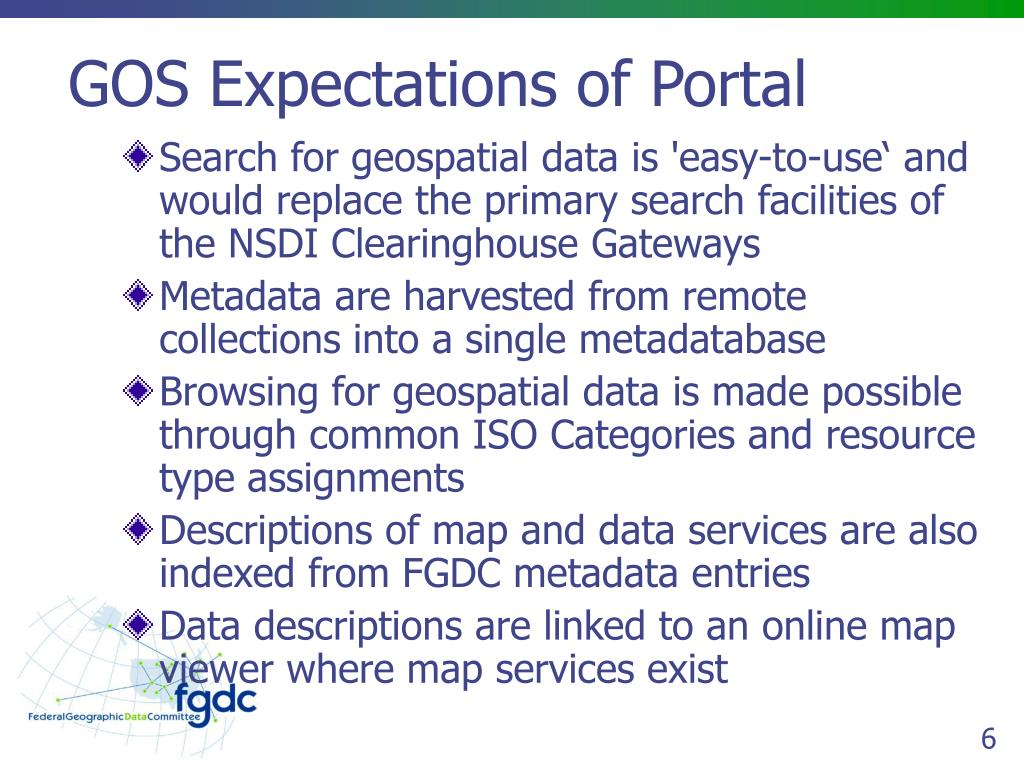 GOS Expectations of Portal
