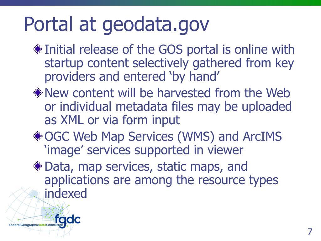 Portal at geodata.gov