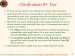 clarifications b tree