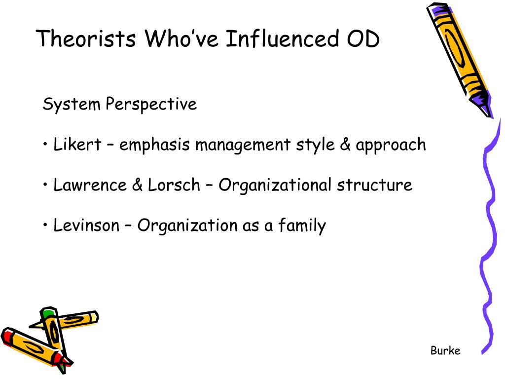 Theorists Who've Influenced OD