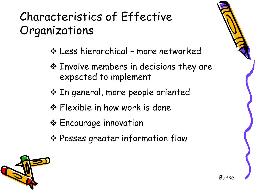 Characteristics of Effective Organizations