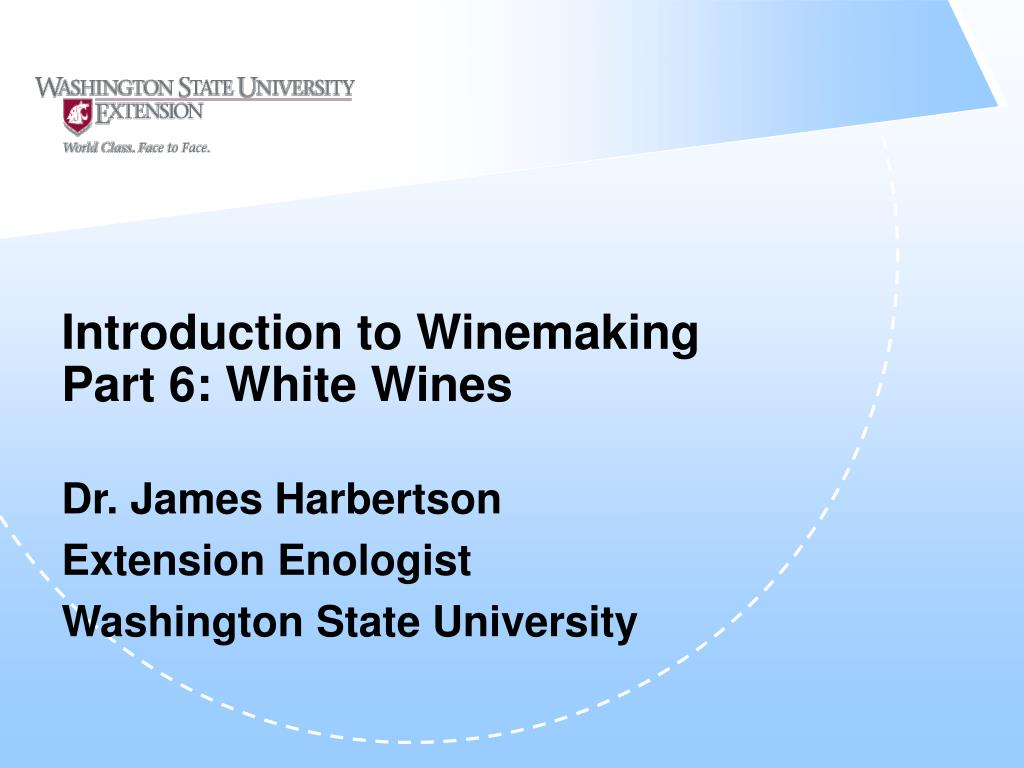 introduction to winemaking part 6 white wines l.