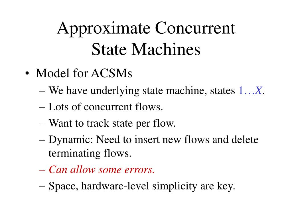 Approximate Concurrent