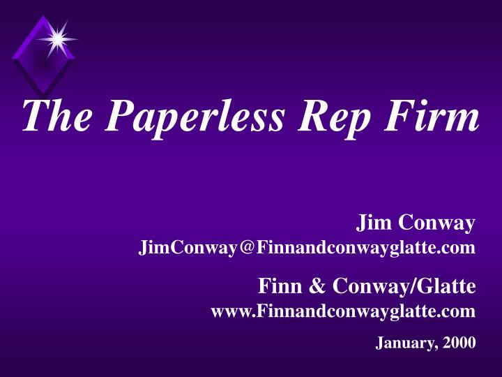 The Paperless Rep Firm