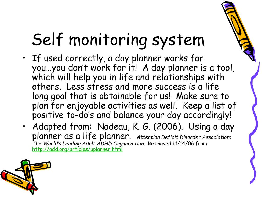 Self monitoring system